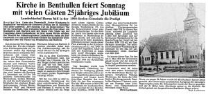 Artikel NWZ 1980, 19. Dezember zu 25 Jahre Kirche