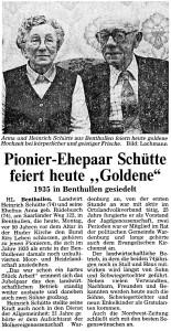 Artikel NWZ 1982, 25. Oktober Goldene Hochzeit