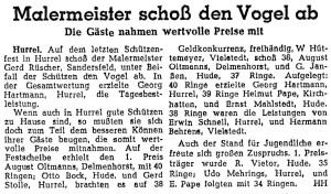 Artikel NWZ groß 3. August 1952